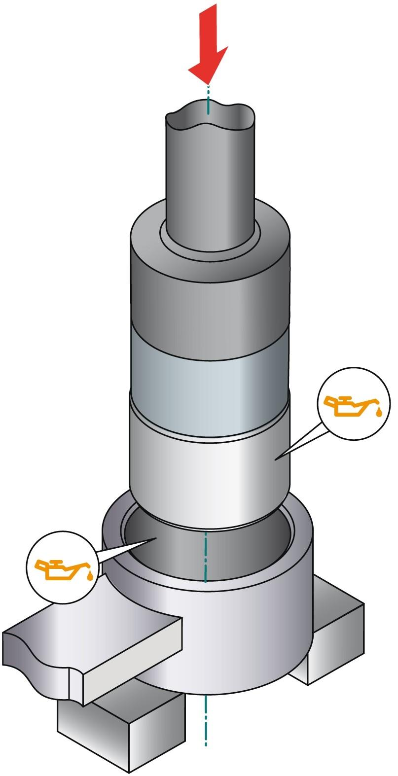 obraz montaż tulei metal-guma-metal 2