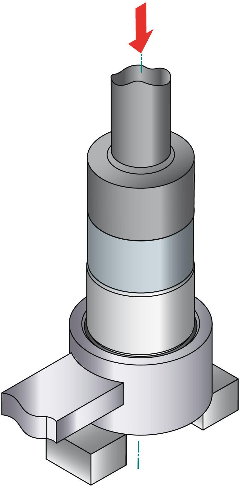 obraz montaż tulei metal-guma-metal 3