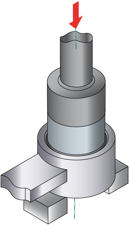 obraz montaż tulei metal-guma-metal 4