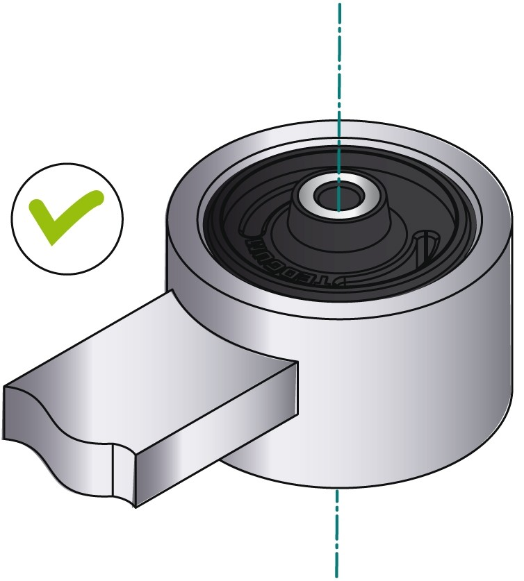 obraz montaż tulei metal-guma-metal 5