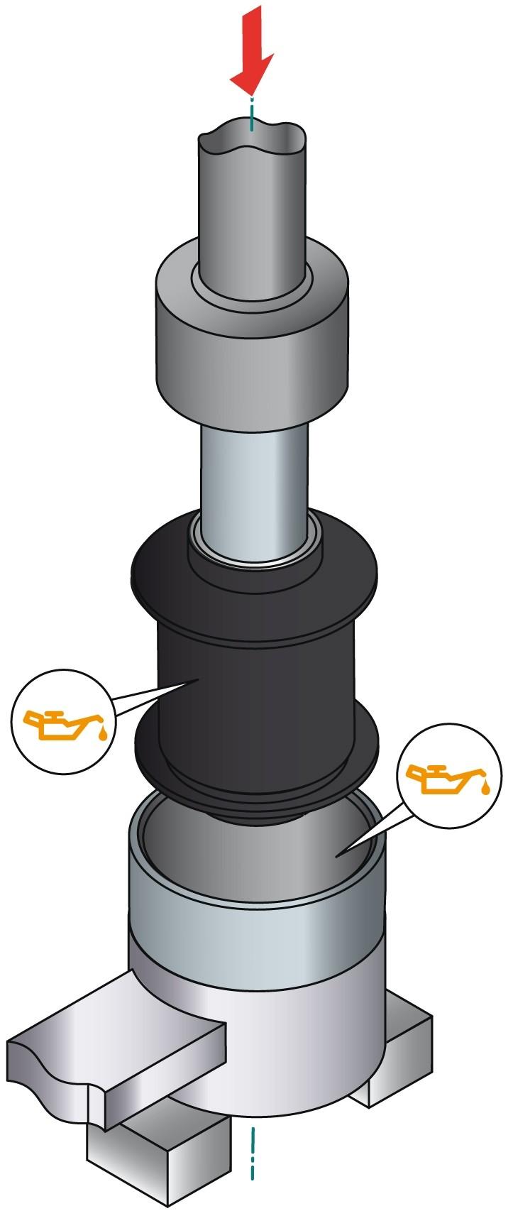 obraz montaż tulei metalowo gumowej 2