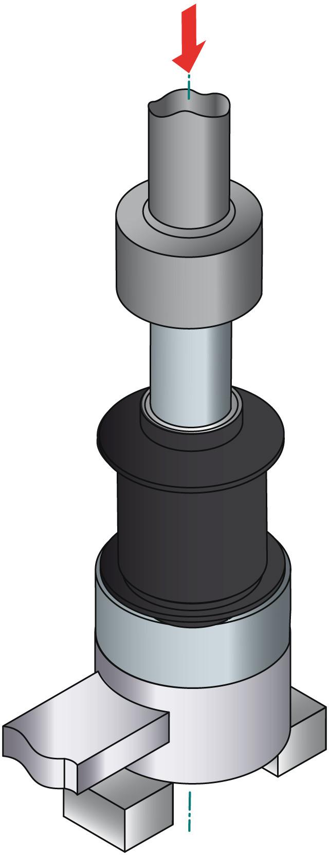 obraz montaż tulei metalowo gumowej 3