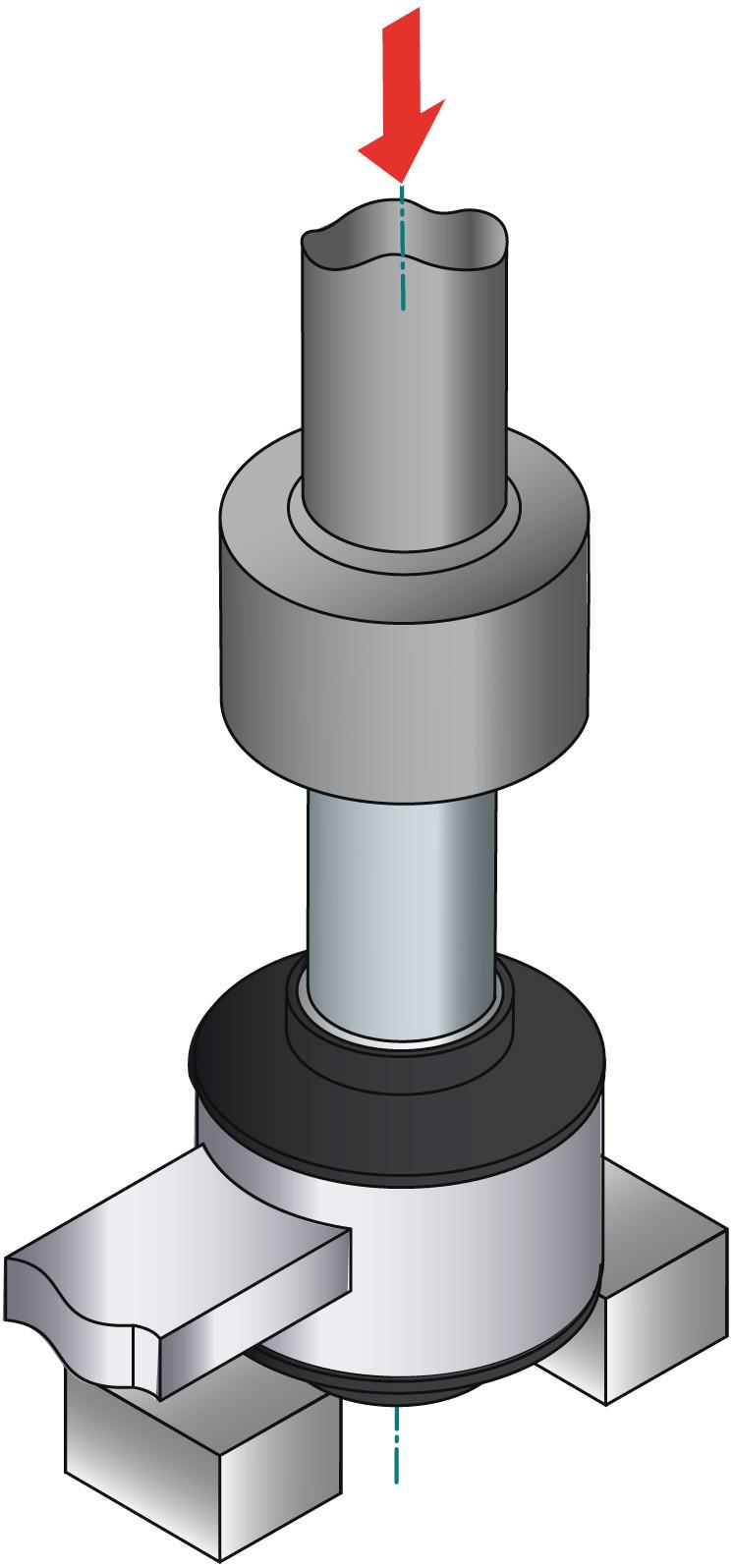 obraz montaż tulei metalowo gumowej 4