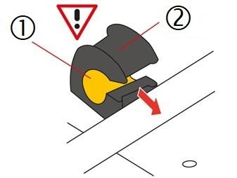 Wymiana gumy stabilizatora -montaż krok 2