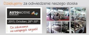 podziękowanie Automovive Hungary 2015