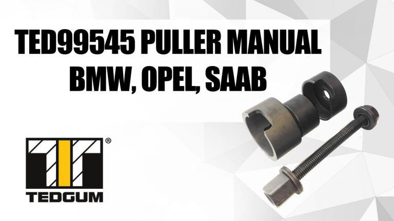 TED99545 puller manual