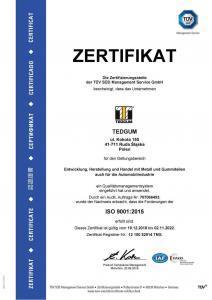 ISO 9001:2015 zerifikat