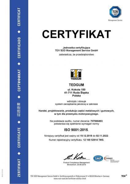 ISO 9001:2015 TEDGUM